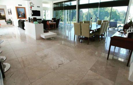Beautiful limestone floor