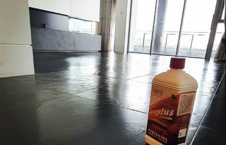 Black slate Zen floor marble