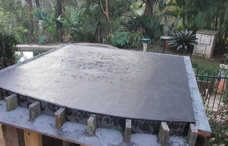 polished concrete pizza oven