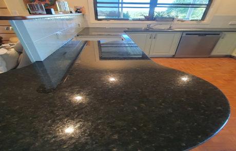Granite kitchen countertop restoration