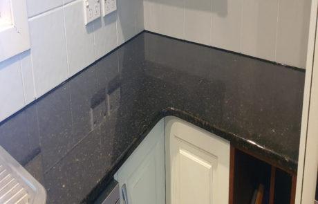 Granite kitchen benchtop restoration and polishing